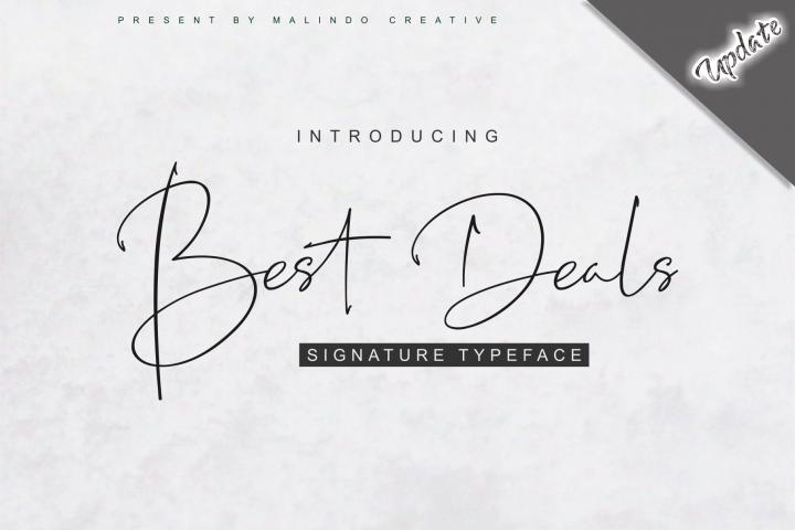 Best Deals | Signature Typeface