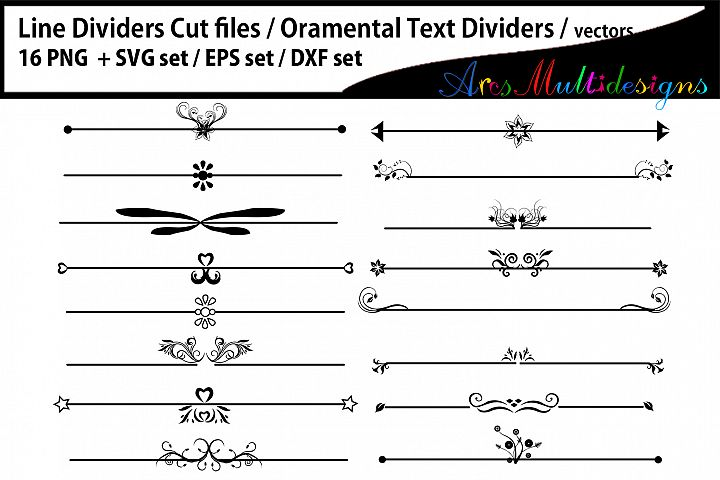 Line Dividers / Line Dividers svg / Ornamental Text Dividers