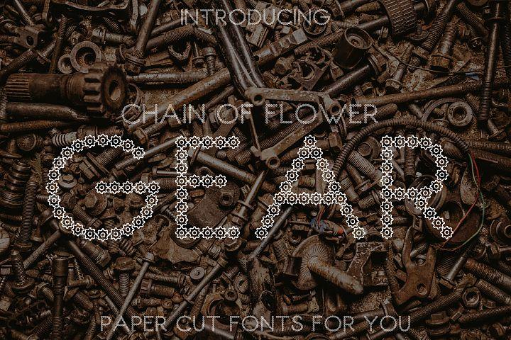 Chain of Flower Gear Font