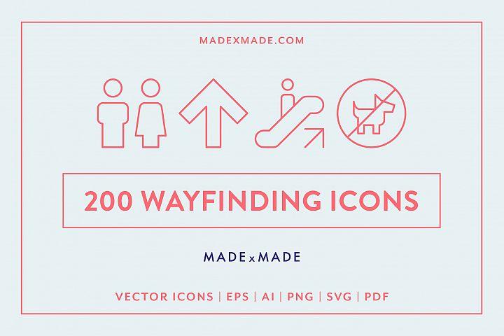 Line Icons - Wayfinding