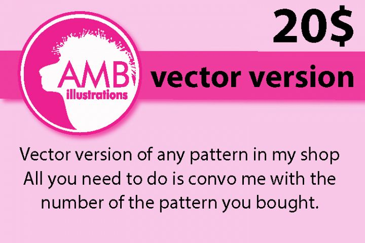 Vector version of any pattern purchased on Design Bundles
