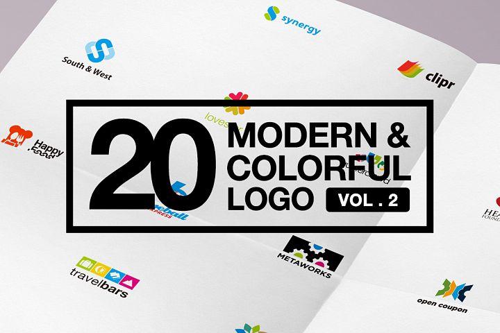20 Modern & Colorful Logo Vol 2 AI EPS CDR PDF
