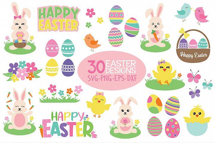 Easter Bundle Svg, 30 Easter Designs Files