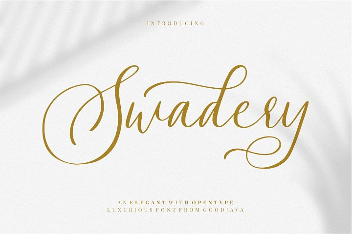 Swadery - Luxury Font