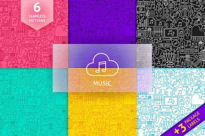 Music Line Tile Patterns