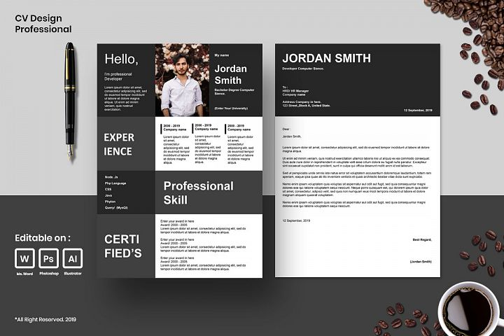 Cv Design Template Professional Vol.2