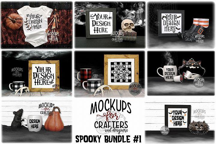 SPOOKY MOCK-UP Bundle #1 - EIGHT MOCK-UPS
