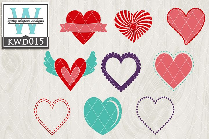 Valentines SVG - Heart Bundle KWD015