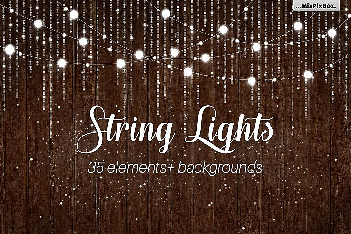 String Lights v3 clipartbackgrounds
