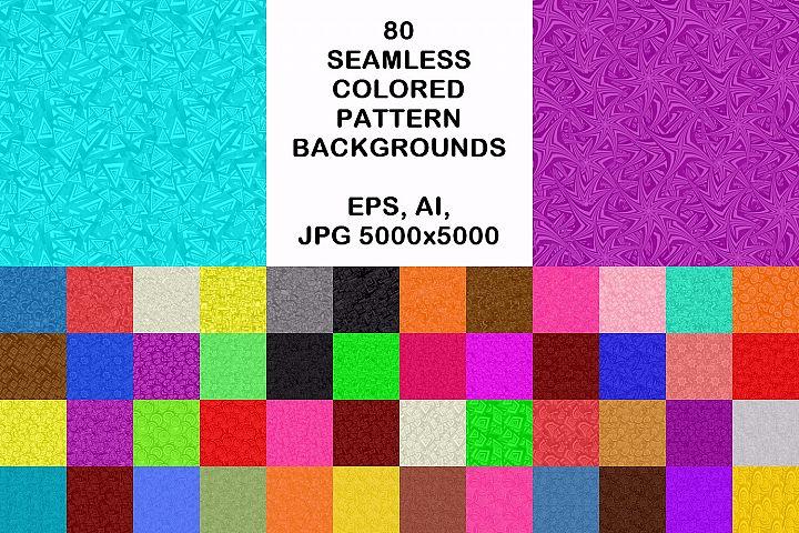 80 seamless pattern backgrounds - AI, EPS, JPG 5000x5000