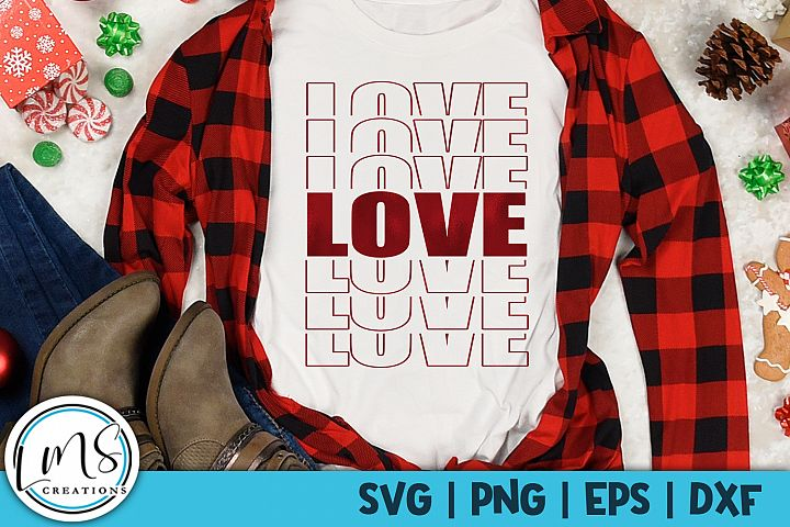 Love - Mirror SVG, PNG, EPS, DXF