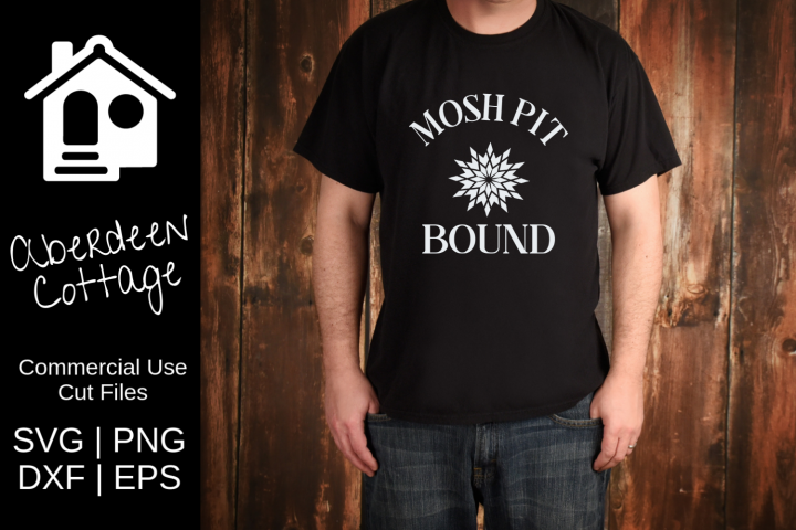 Mosh Pit Bound Guys Music Tee SVG Design