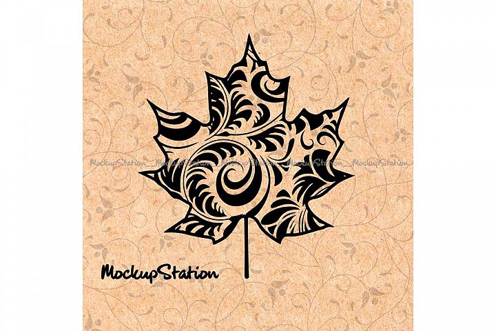Maple Leaf Floral Mandala png, Boho Fall Decor svg, Canada