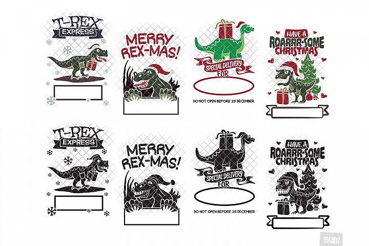 Dinosaur Santa Sack SVG Christmas with DXF/PNG/JPG/EPS