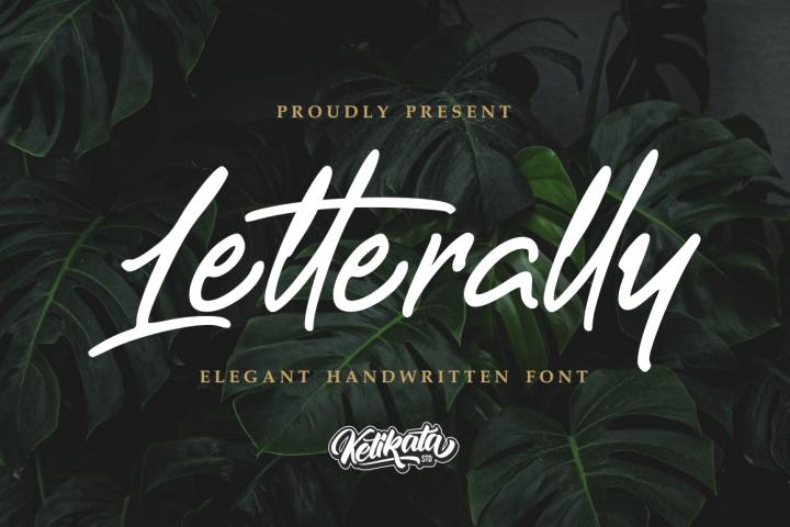 Letterally Handwritten Elegant Font
