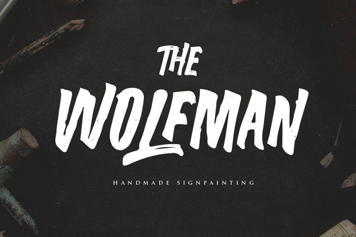 The Wolfman SignPainted