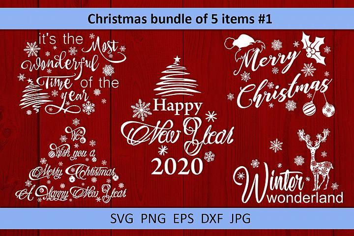 Christmas bundle svg Winter svg Snowflake svg