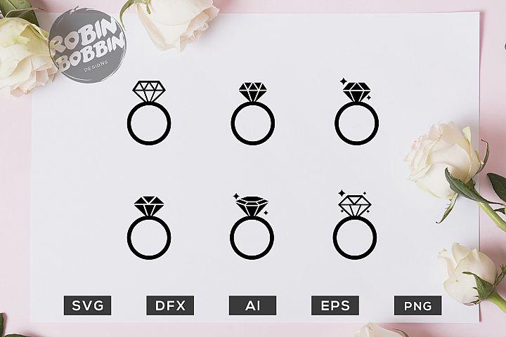 Wedding Rings SVG File - Wedding SVG PNG EPS Files