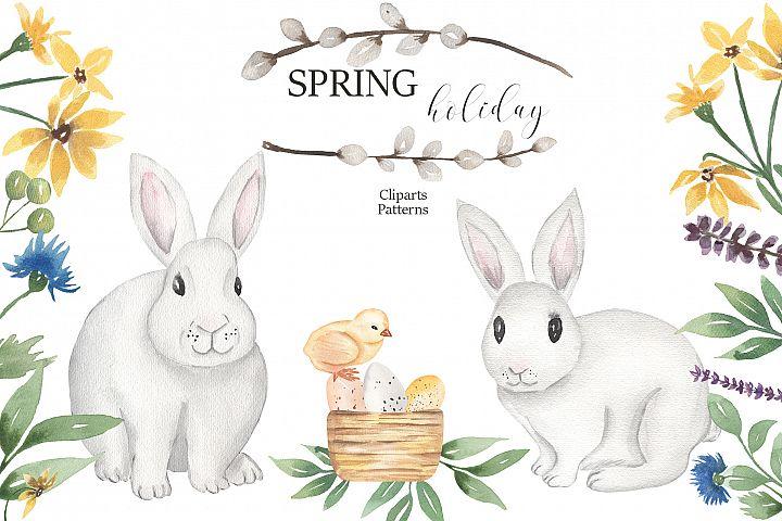 Watercolor Spring Holiday