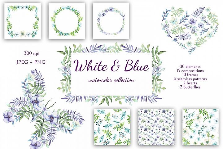 White and Blue - Free Design of The Week