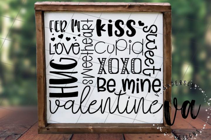 Valentine Subway Art SVG