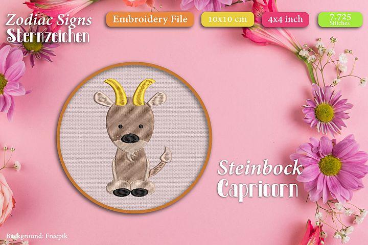 Zodiac sign - Capricorn - Embroidery Files