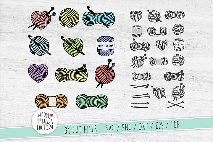 Knitting svg, Crochets svg, Yarn svg bundle, Crochet neddles