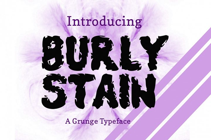 Burly Stain Typeface