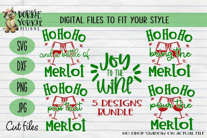 BUNDLE Joy to the wine, Merlot Christmas, WIne Xmas - SVG
