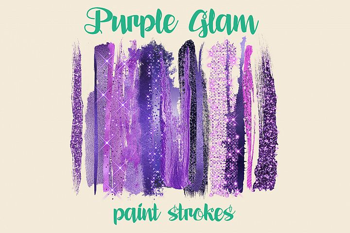 Purple Glam paint strokes
