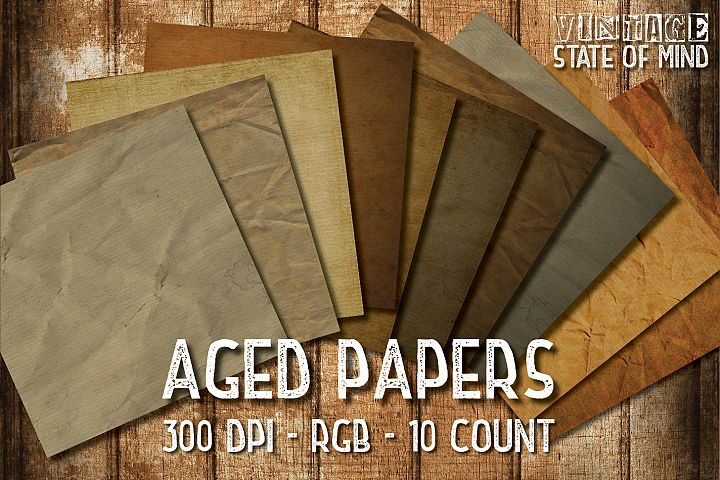 Aged Papers Digital Papers