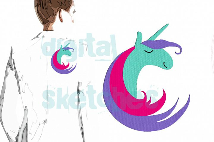 Unicorn Enso Machine Embroidery Design 4 Sizes