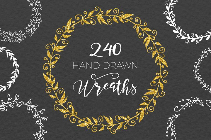 240 Wedding Wreaths - Free Design of The Week Font