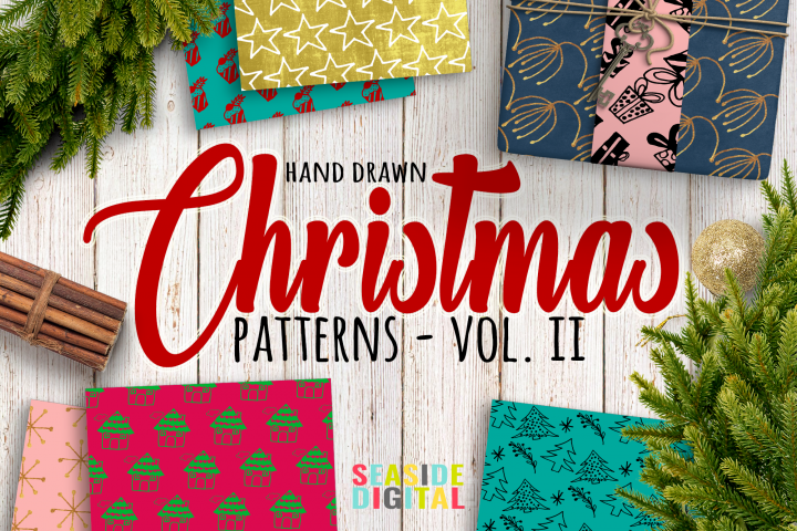 Hand Drawn Christmas Patterns II