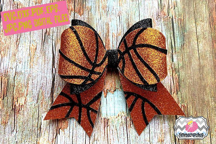 Basketball Hair Bow Template Glitter Hair Bow