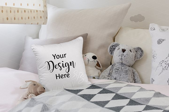 Farmhouse Pillow Mockup for Child Room