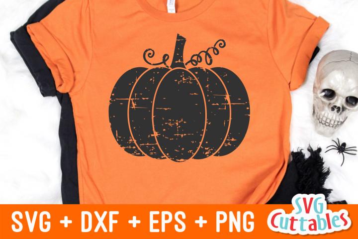 Distressed Pumpkin | Halloween SVG Cut File