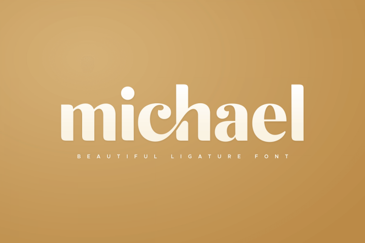 michael beautiful ligature font