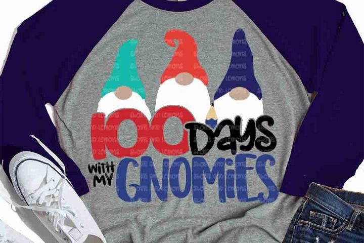 100th day of school svg, gnome, 100 days with my gnomies