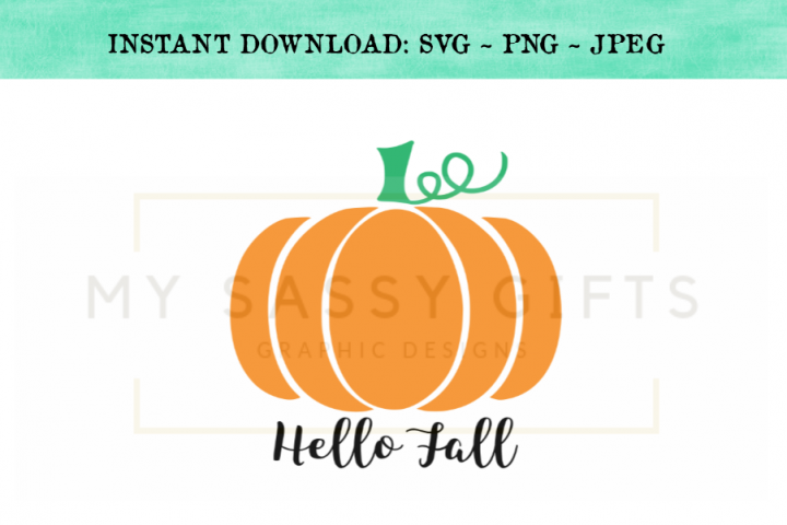 Hello Fall Pumpkin Farm SVG Design