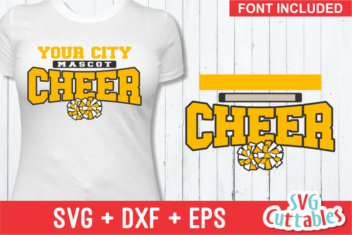 Cheer Template 0020, SVG Cut File