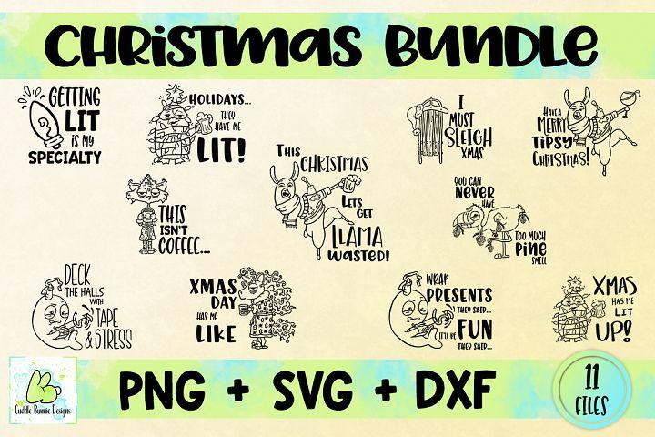 Christmas SVG Bundle, Xmas Bundle, Holiday Bundle, PNG, DXF