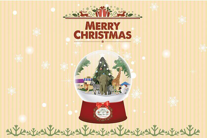 Animal Snow Globe Christmas