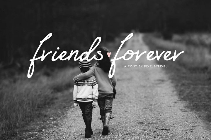 Friends Forever Font & Floral Extras