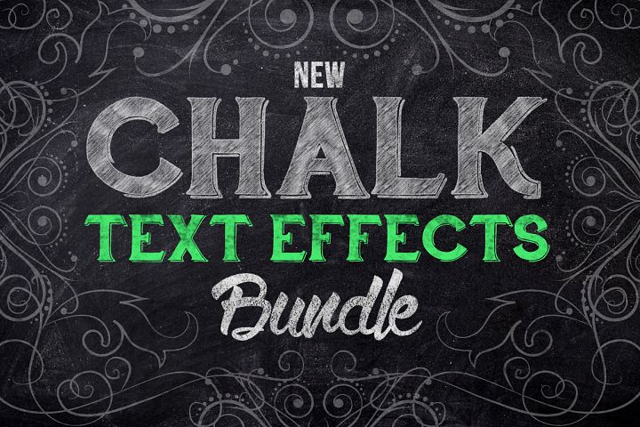Chalk Text Effects Creator Bundle Sketch Style