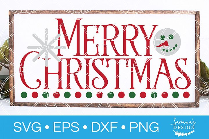 Merry Christmas SVG Vintage Christmas SVG Snowman SVG example image 1