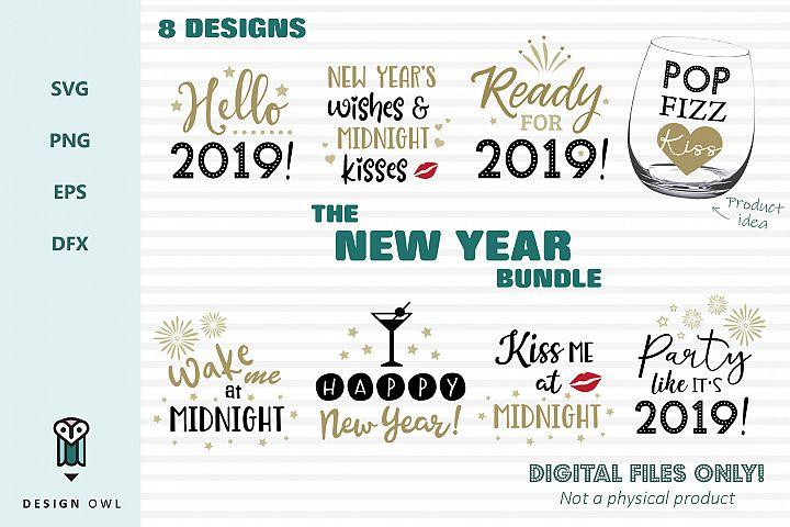 The New Year bundle - SVG file bundle