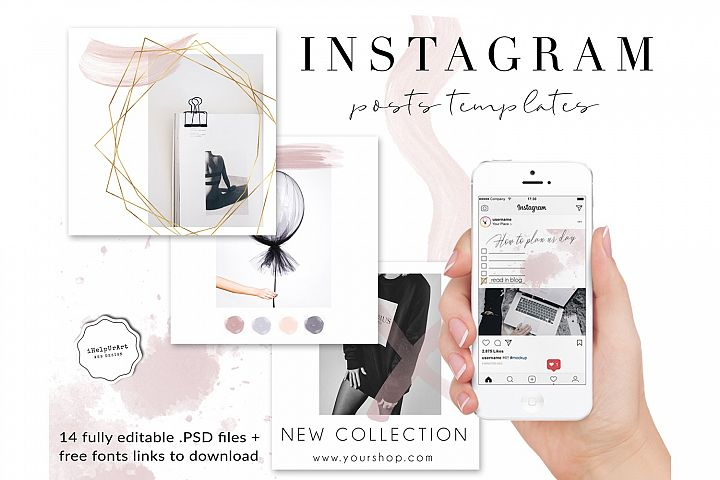 14 Editable Instagram Posts Templates PSD