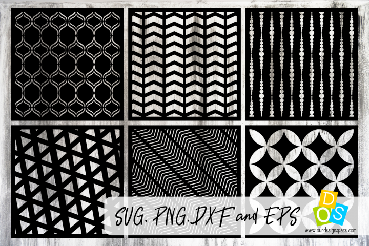 Stencils & Patterns 4 SVG, DXF, EPS and PNG craft files