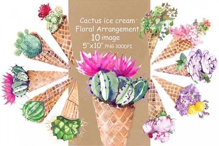 Ice-Cream flowers Clipart